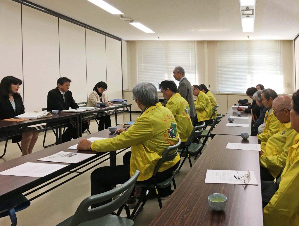 県庁懇談会の様子